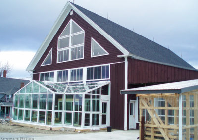 Barn Greenhouse Addition in Maine by Sunspace Design, Inc.