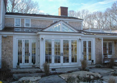 Outdoor view of a conservatory in Martha's Vineyard, Massachusetts 2