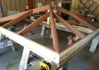 Hip Style Skylight Under Construction in Workshop