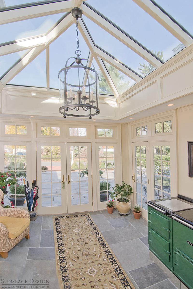 Colonial orangery addition hip skylight shrewsbury ma for Victorian sunroom