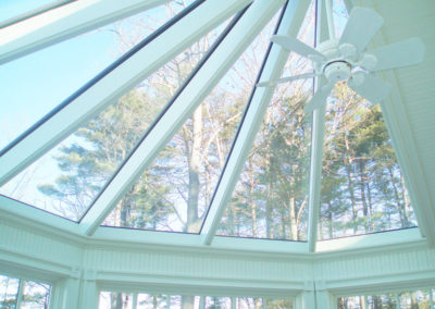 View Through Glass Conservatory Roof Sections
