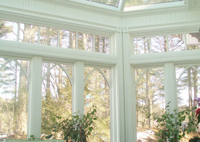 Indoor view of a conservatory in Kittery Point, Maine 4