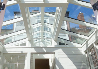 Inside view of a skylight in Salem, Massachusetts