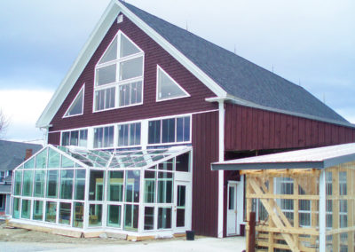 Outer view of Barn Greenhouse in Turner, Maine 2