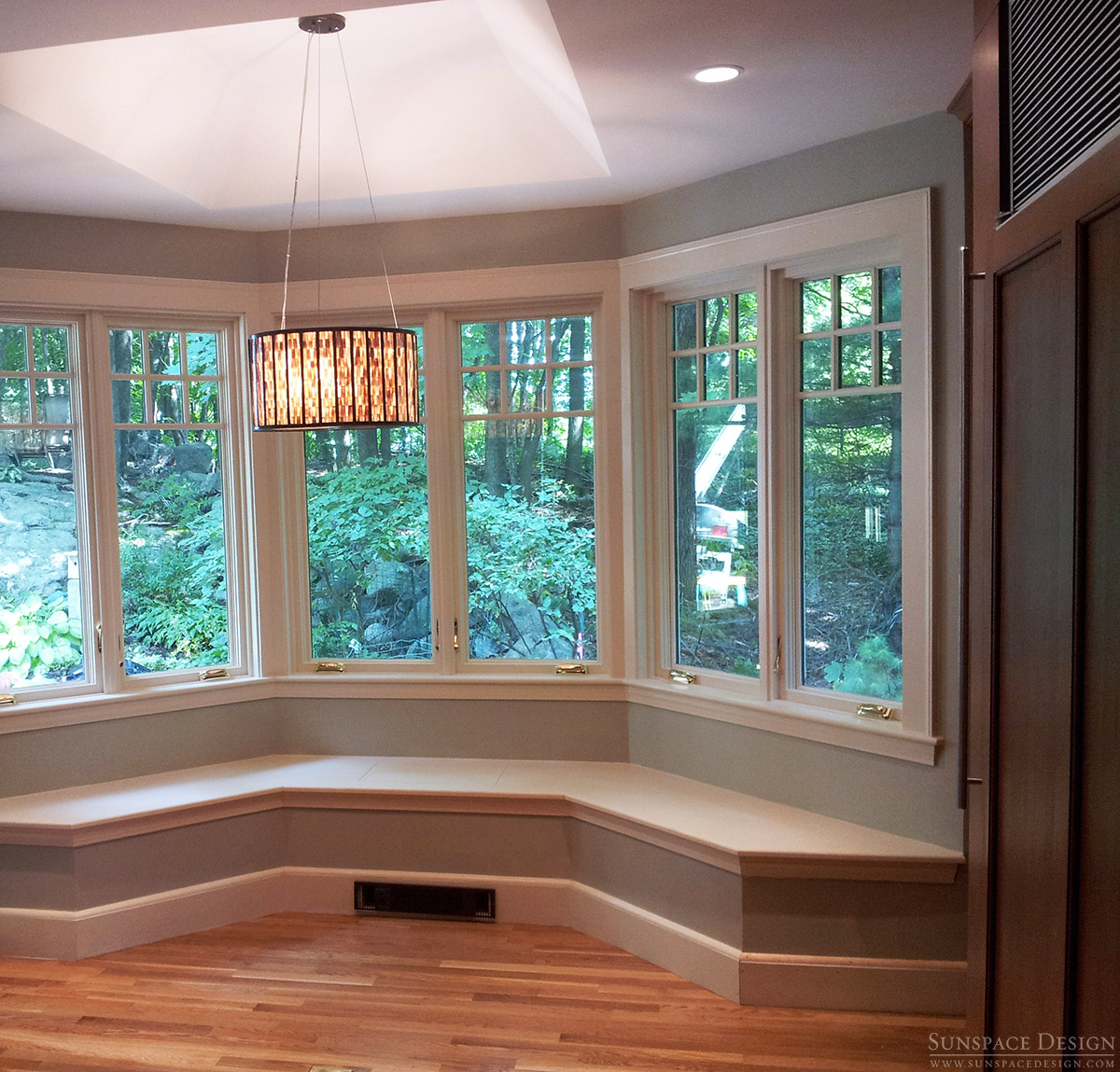 Kitchen Expansion, Wall Seating & Custom Cabinetry | Belmont, MA