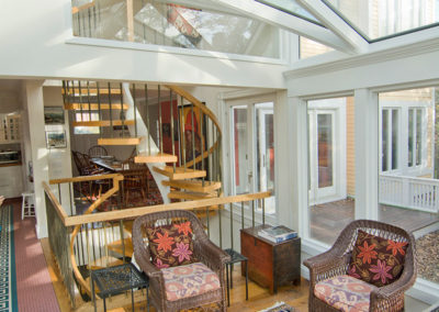 Conservatory Addition Opened to Home's Interior