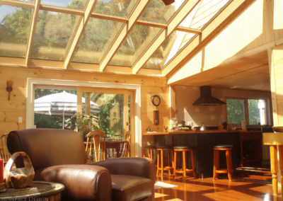 Inside view of a sunroom in Gloucester, Massachusetts