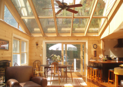 Inside view of a sunroom in Gloucester, Massachusetts 2