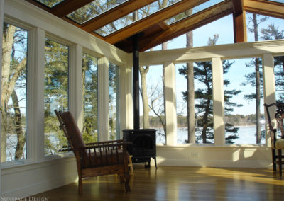 Lakeside Sunroom with Conventional Wall Framing