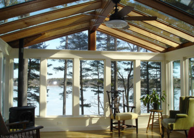 Stately Sunroom with Custom Glass Roof