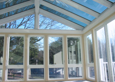 Sunroom with Gable-Style Pitched Glass Roof