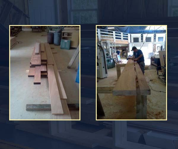Sunspace Design shop workers mill rough mahogany into perfectly planed and dressed boards for use in construction