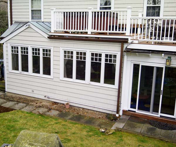 """Before"" photo of client's rear yard"