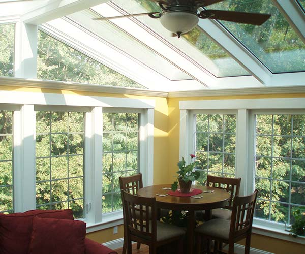 A Framingham, Massachusetts sunroom designed and constructed by Sunspace Design